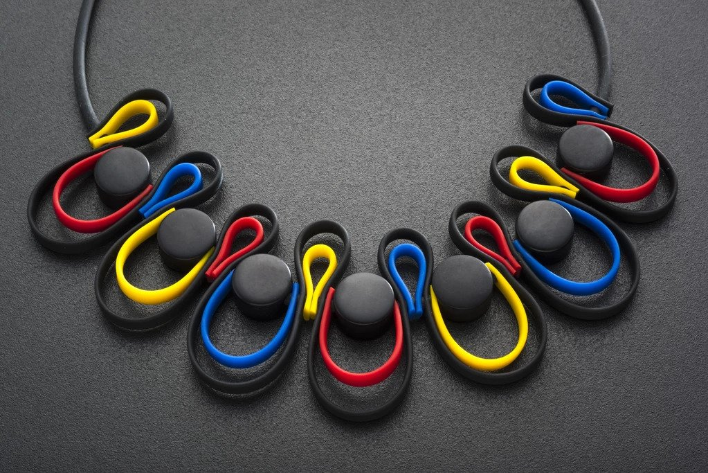 DOUBLE FETTUCCINI MULTI COLOUR NECKLACE Image